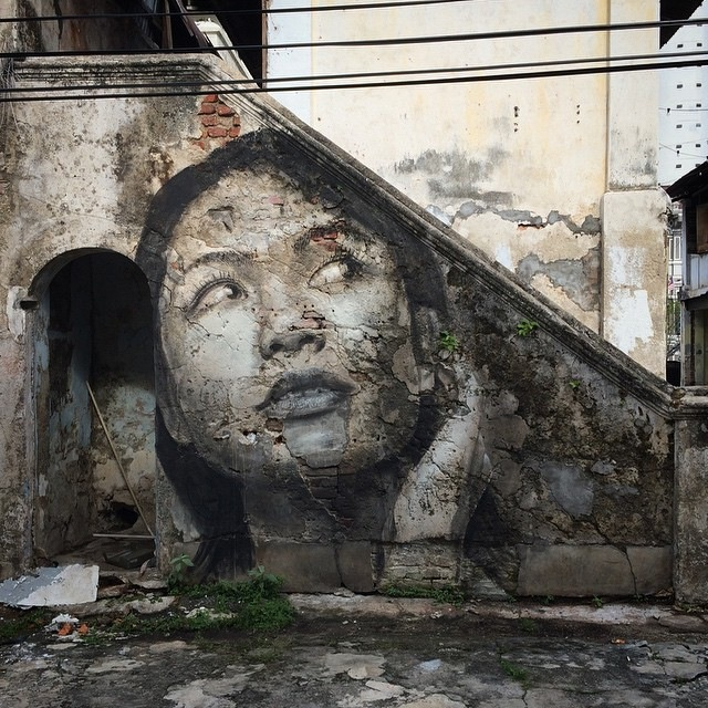 Rone new murals in penang malaysia urbanite for Mural 1 malaysia